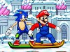 Sonic and Mario Snowboard Race