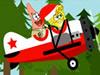 Bob l'Eponge et Patrick vol Avion