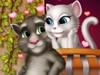 Couple de Chats pour les Baisers