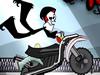 Grim Puro Osso Acrobacias de Moto