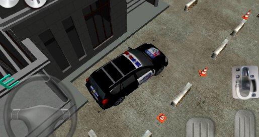 3D Police Car Parking - 3