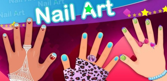 Dress up - Art nail girls - 1
