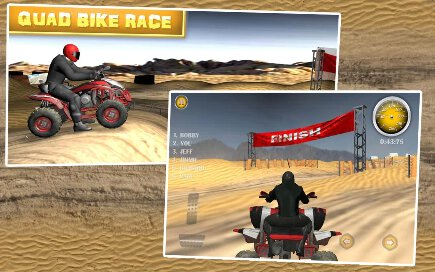 Quad Bike Race Desert Offroad - 1