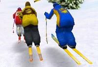 Défi de Ski dans la Neige