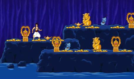 Aladino na Gruta dos Tesouros