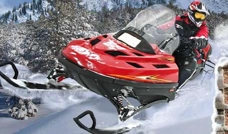 Moto de Neve Manobras Radicais