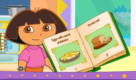 Dora in der Küche