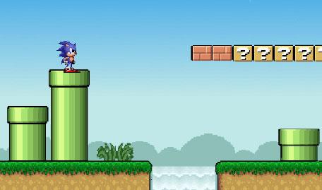Sonic Perdido no Mundo de Mario