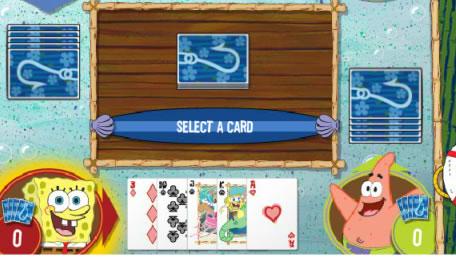 SpongeBob Gone Fishing Cards Game