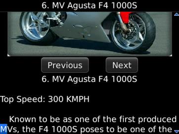 Fastest Motorbikes in 2012 - 2