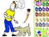 Coloring the Tintin and Milou