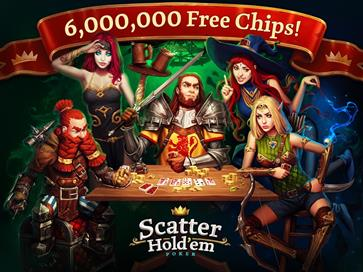 Scatter HoldEm Poker - Texas Online Poker Game - 1