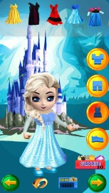 My Little Snow Princess Virtual World Dress Up Game - 2