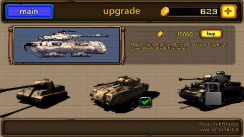 3D War of Tank - 3
