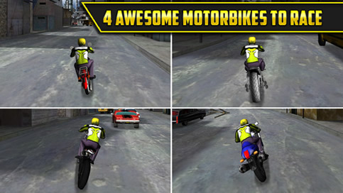 3D Motor Bike Drag Race - 2