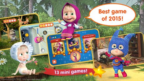 Masha and the Bear: Childrens Education Games Free - 1