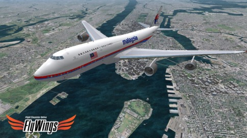 Flight Simulator FlyWings Online 2014 Free - New York - 3