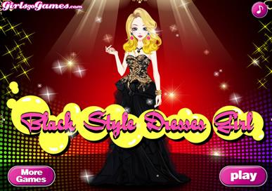 Black Style Dresses Girl - 4