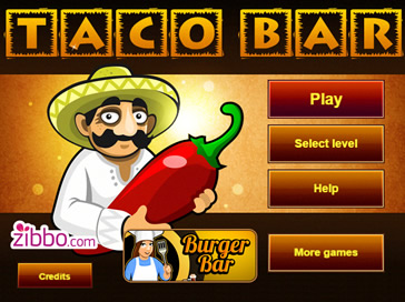 Taco bar play free online tablet and cell mobile phone for Food bar games free online
