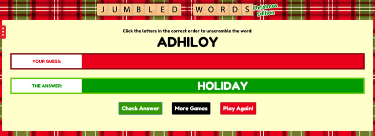 Jumbled Words: Christmas Edition - 3