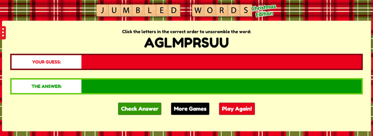 Jumbled Words: Christmas Edition - 4