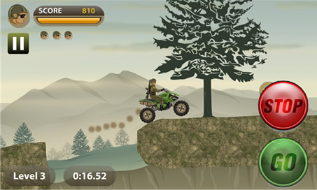Stunt Bike - Army Rider - 3