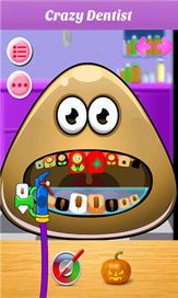 Baby Pou At Dentist - 2